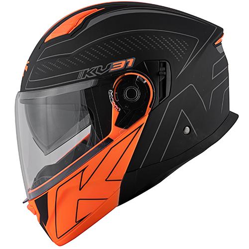 Color matt black / orange
