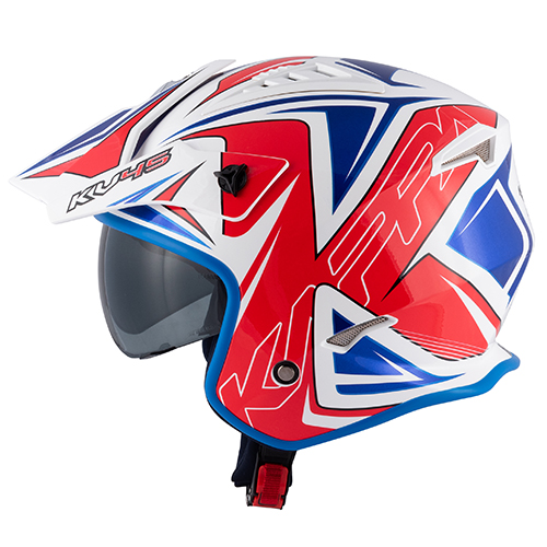 Color glossy white / red / blue