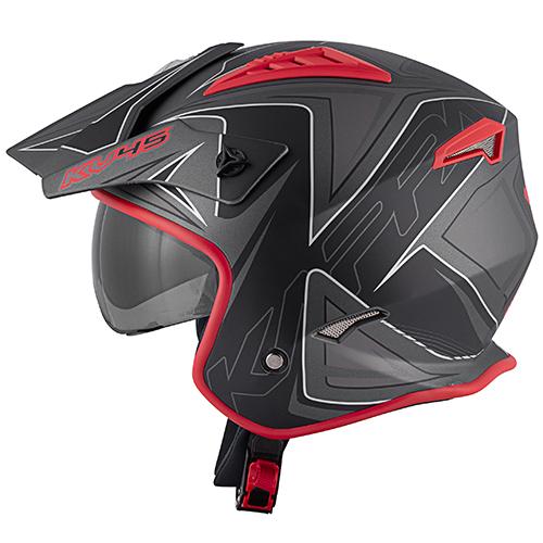 Color matt titanium / red / black