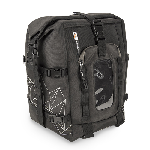 a019852d1f Expandable black tank bag. It can be connected with the RA317 handlebar bag  (using the M.O.L.L.E. system).